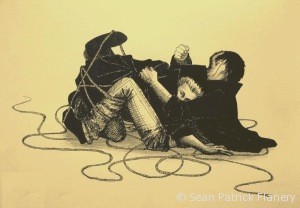 Sean Patrick Flanery and Norman Reedus always need rope.