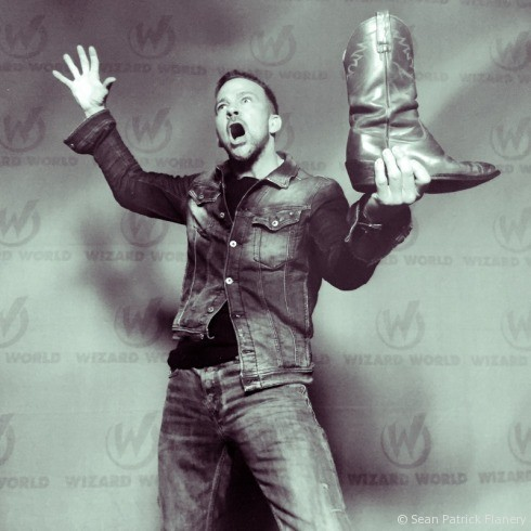 Norman Reedus is petrified of Sean Patrick Flanery's boots.